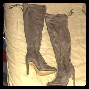 Shoes - 3 inch suede over the knee boots! Never been worn